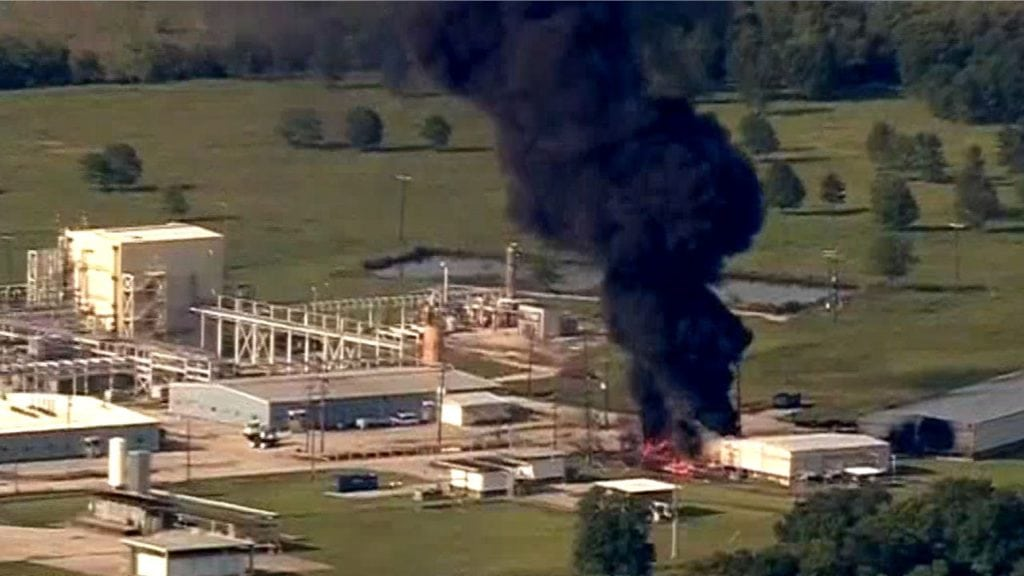 Explosion at Arkema chemical plant in Crosby Texas