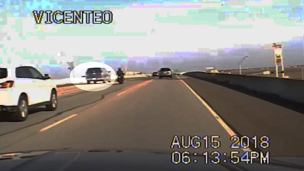 Dashcam image of truck speeding near Greewood