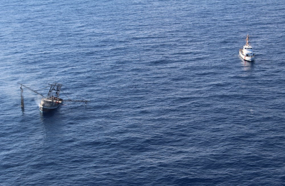 Fishing Vessels crew rescued by Coast Guard in Port Isabel