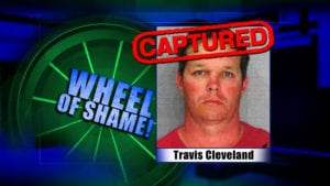 Wheel of Shame Arrest: Travis Cleveland