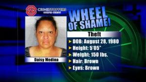 Wheel Of Shame Fugitive : Daisy Medina