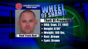 Wheel of Shame fugitive: Reid Travis Deal