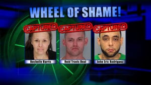 Wheel of Shame Fugitives Arrested: Rochelle Harris, Reid Travis Deal and John Eric Rodriguez