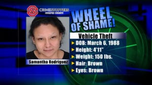 Wheel Of Shame Fugitive: Samantha Rodriguez