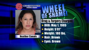 Wheel Of Shame Fugitive: Heather Canals