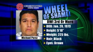Wheel Of Shame Fugitive: Michael Perez