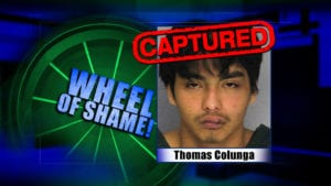 Wheel Of Shame Arrest: Thomas Colunga