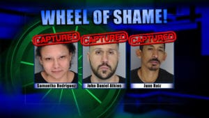 Wheel Of Shame Fugitives Arrests: Samantha Rodriguez, John Daniel Atkins and Juan Ruiz