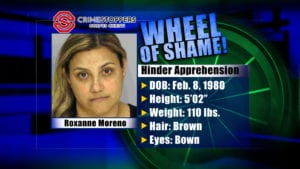 Wheel Of Shame Fugitive: Roxanne Moreno