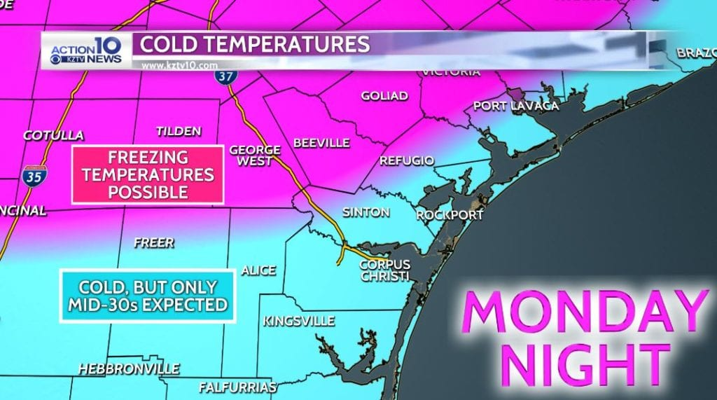 Freeze Possibilities for Monday Night