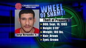 Wheel Of Shame Fugitive: Jorge Hernandez Jr