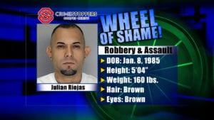 Wheel Of Shame Fugitive: Julian Riojas