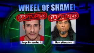 Wheel Of Shame Arrests: Jorge Hernandez Jr and Marcy Gonzales