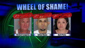 Wheel Of Shame Arrests: Richard Longoria, Julian Riojas and April Perez