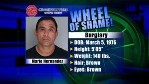 Wheel Of Shame Fugitive: Mario Hernandez