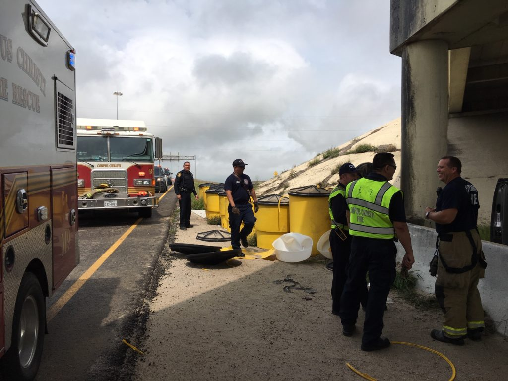 Two-car accident at NPID-Interstate 37 interchange sends woman to